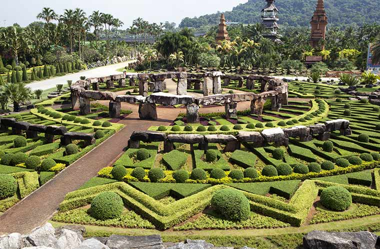 Tropical garden i Pattaya, Thailand